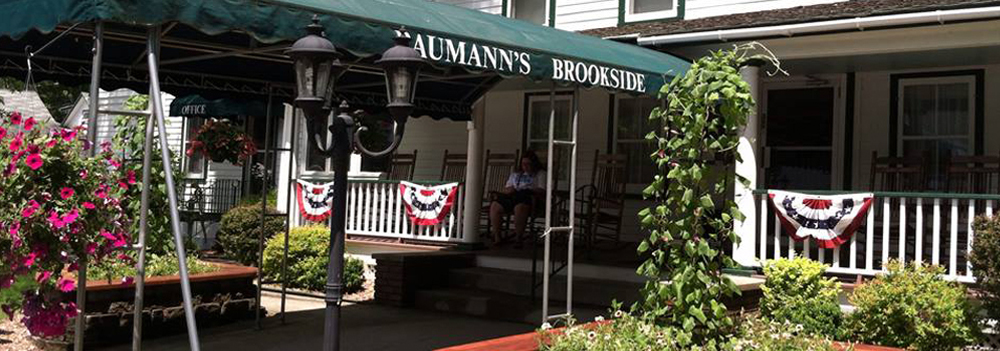 Entrance to Baumann's Brookside Summer Resort